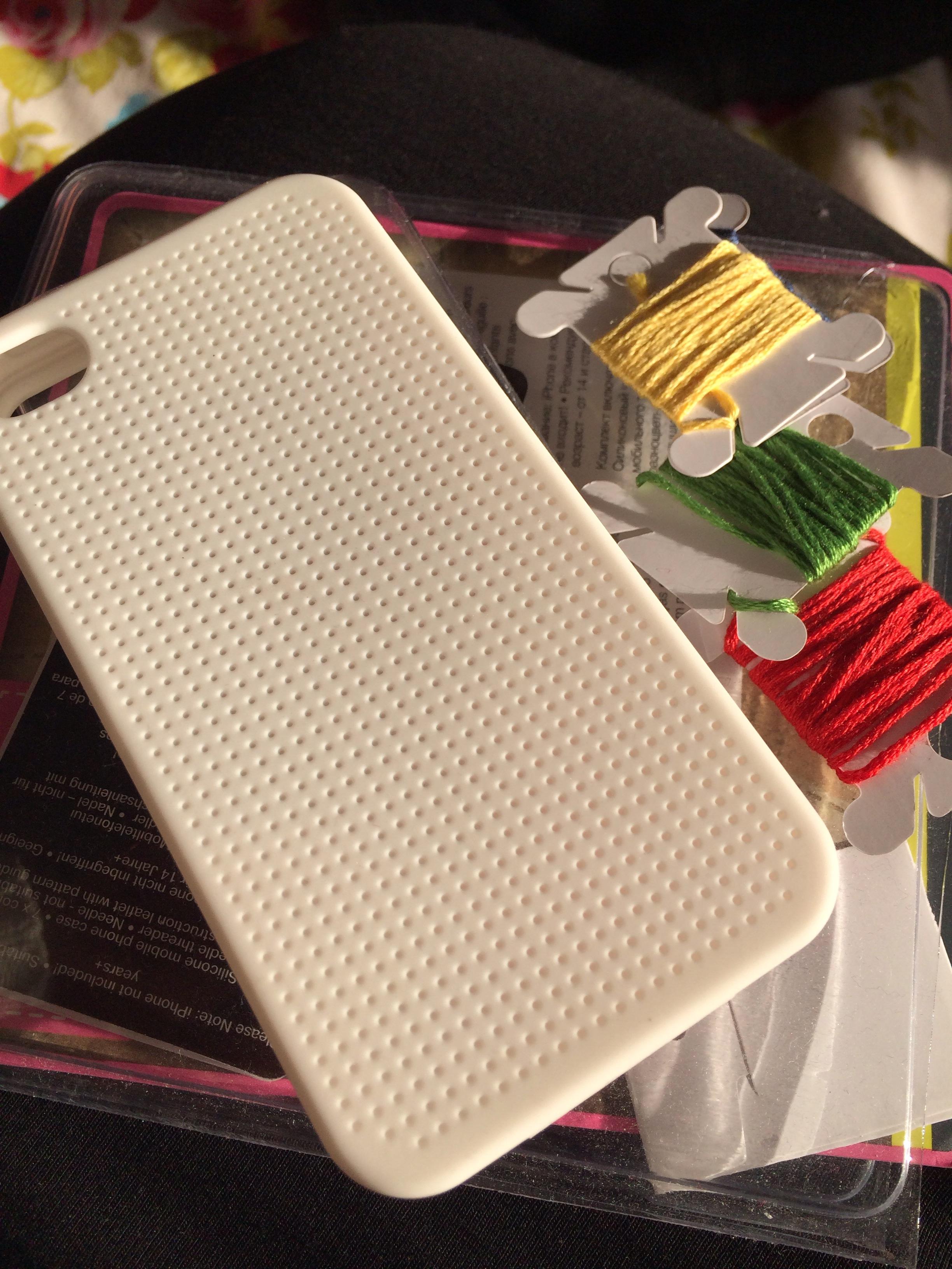 best sneakers 3368a 6c30f DIY Cross Stitch iPhone Case. – Plastic Little Covers